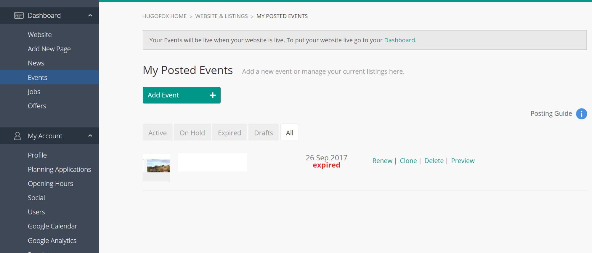 Click Save and Checkout to publish your event